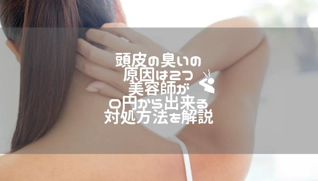 頭皮の臭いの原因は2つ、美容師が0円から出来る対処方法を解説