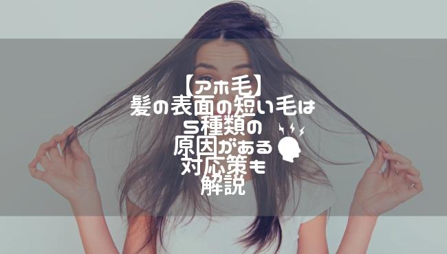 【アホ毛】髪の表面の短い毛は5種類の原因がある|対応策も解説